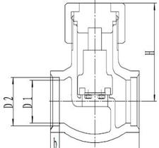Обратный клапан CCK DH6(2)1F-40P