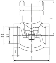 Обратный клапан CCK DH61F-40P