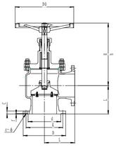 Запорный клапан CCK T171L25-250 PN10