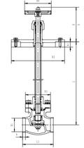 Криогенный запорный клапан блочный CCK T329DA10-100A~C PN40