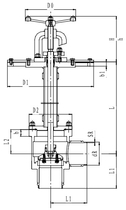 Криогенный запорный клапан угловой CCK T211DL125-200 PN16
