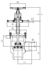 Криогенный запорный клапан угловой CCK T301DL150-250 PN40