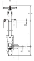 Криогенный запорный клапан угловой CCK T301DL10-15 PN40