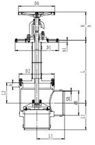 Криогенный запорный клапан угловой CCK T311DL200-300 PN40