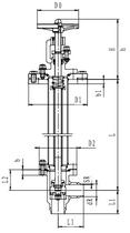 Криогенный запорный клапан угловой CCK T361DL100 PN64