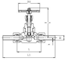 Запорный клапан CCK T452A10-25 PN160