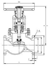 Запорный клапан CCK J41F-25T DN200-300