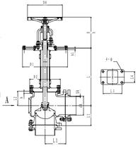 Криогенный запорный клапан угловой CCK T121DB125-250 PN6