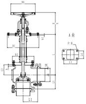Криогенный запорный клапан угловой CCK T121DL125-250 PN6