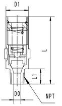 Предохранительный клапан типа T156DK10