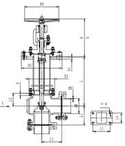 Криогенный запорный клапан угловой CCK T171DL65-100 PN10