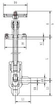 Криогенный запорный клапан угловой CCK T201DB10-15 PN16