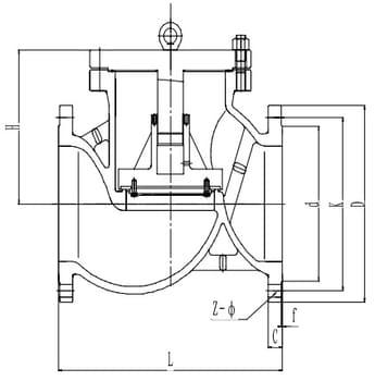 Обратный клапан T201H300 PN16