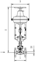 Криогенный запорный клапан типа T203DA25-250 с пневматическим приводом