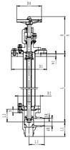 Криогенный запорный клапан угловой CCK T211DB20-40 PN16