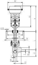 Запорный клапан криогенный типа T211DZ20-200 с пневматическим приводом