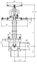 Криогенный запорный клапан угловой CCK T251DB150 PN25