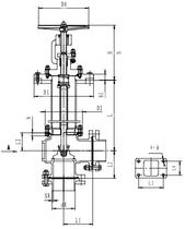 Криогенный запорный клапан угловой CCK T271DL50-65 PN25