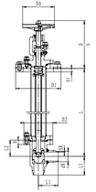 Криогенный запорный клапан угловой CCK T301DB20-40 PN40