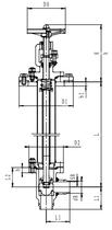 Криогенный запорный клапан угловой CCK T301DB50-100 PN40