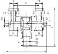 Криогенный переключающий кран типа T304DQ25-32
