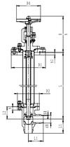 Криогенный запорный клапан угловой CCK T311DB50-100 PN40