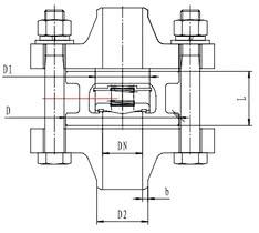 Криогенный обратный клапан T312DH15-100 PN40