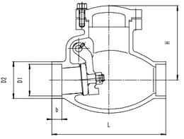 Криогенный обратный клапан T315DH50-150 PN40