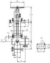 Криогенный запорный клапан угловой CCK T321DB25-50 PN40