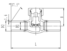 Криогенный обратный клапан T328DH10-40X PN40