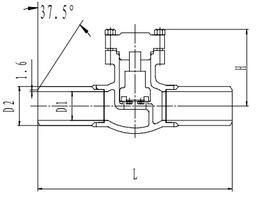 Криогенный обратный клапан T328DH50-150X PN40