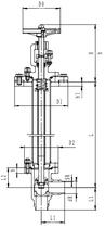 Криогенный запорный клапан угловой CCK T351DB50-80PN64
