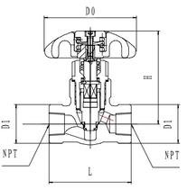 Криогенный запорный клапан CCK T361DA8-15 PN64