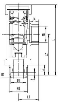 Предохранительный клапан тип T7K10-25 PN40