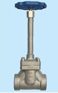 Запорный клапан криогенный типа DJ-D с фланцевым креплением крышки