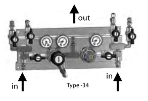 Панель газовая полуавтоматическая GCE Druva BMD 322-39