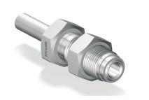 Соединитель приварной с наружной резьбой и креплением на панель для чистых сред серии H-ZHBT