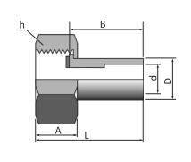 Переходник с внутренней резьбой под приварку серии SNWG
