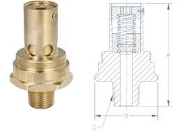 Предохранительный клапан Rego серии B-19434B, C-19434B