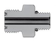 Фитинг угловой конфигурации с торцевым кольцевым уплотнением VCO с наружной резьбой SAE/MS