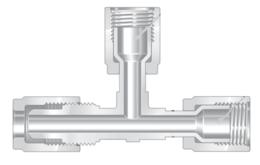 Фитинги высокой чистоты из перфторалкокси компактные тройники ответвление - отвод