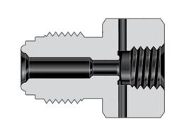 Фитинги с торцевым уплотнением VCR корпуса переходник с наружной на внутреннюю резьбу