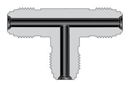 Фитинги с торцевым уплотнением VCR корпуса проходной тройник